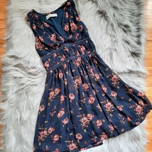 Abercrombie & Fitch Navy Chiffon Dress 🌸